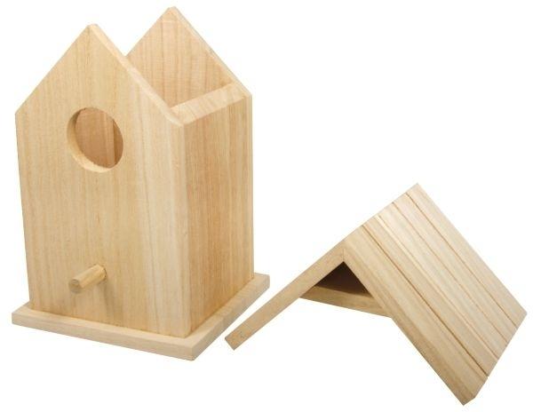 holz vogelhaus box 12 5x10x17cm zweiteilig. Black Bedroom Furniture Sets. Home Design Ideas