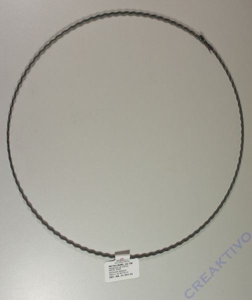 Metallring 25cm aus gewelltem Flachdraht