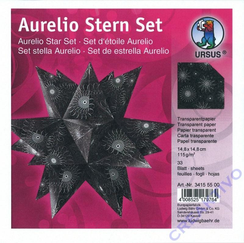 Aurelio Stern Set 148x148cm Transparent Blackwhite