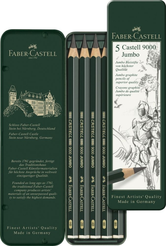 4B Faber-Castell Bleistift CASTELL® 9000 grün Schaftfarbe