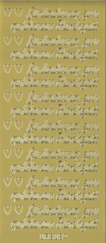 Sticker Einladung Goldene Hochzeit