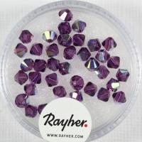 Swarovski Kristall-Schliffperlen Star 4mm 40St orchidee