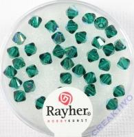 Swarovski Kristall-Schliffperlen Star 4mm 40St smaragd (Restbestand)