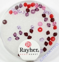 Rayher Swarovski Kristall-Schliffperlen 3mm rot-lila-Töne