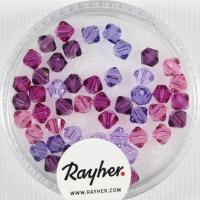 Swarovski Kristall-Schliffperlen 4mm 50St lila-Töne