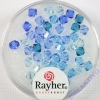Swarovski Kristall-Schliffperlen 4mm 50St blau-Töne