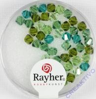 Swarovski Kristall-Schliffperlen 4mm 50St grün-Töne