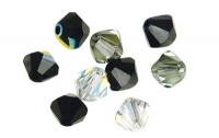 Swarovski Kristall-Schliffperlen 6mm 25St schwarz-weiß-Töne
