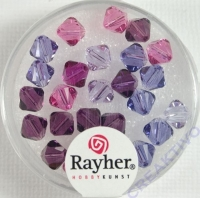 Swarovski Kristall-Schliffperlen 6mm 25St lila-Töne