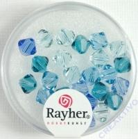Swarovski Kristall-Schliffperlen 6mm 25St blau-Töne