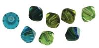 Swarovski Kristall-Schliffperlen 6mm 25St grün-Töne