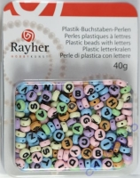 Plastik-Buchstaben-Perlen 40g