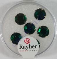 Glas-Strasssteine smaragd 6St 8,5mm