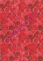 Transparentpapier Rosen rot 115g/qm DIN A4 (Restbestand)