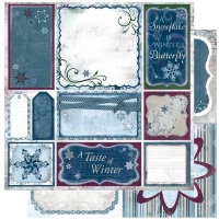Scrapbooking Papier Midnight Frost Cut Outs