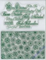 Silikon-Stempel Weihnachtshintergrund und Schrift