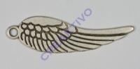 Pracht Metallanhänger Flügel altplatin 70x20mm