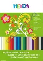 Heydacolor Karton Superblock 24 Blatt 24x34cm 220g/qm