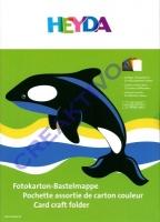 Fotokarton Bastelmappe 10 Blatt 25 x 35 cm