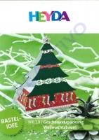 Heyda Bastelidee Nr. 19 - Geschenkverpackung Weihnachtsbaum