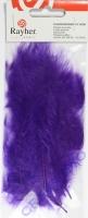 Flauschfedern 10-15cm 15 Stück lila