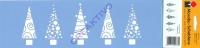 Marabu Schablone 10x33cm Christmas trees