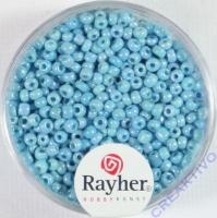 Rocailles 2 mm ø opak gelüstert hellblau