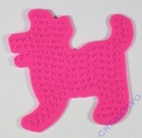 Bügelperlen-Steckplatte Hund 9cm