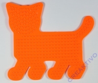 Bügelperlen-Steckplatte Katze 14cm