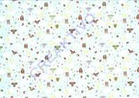 Motiv-Fotokarton 300g/qm 49,5x68cm Winter garden 03 - Eulen