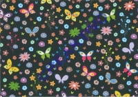 Motiv-Fotokarton 300g/qm DIN A4 Zauberwald 03 - Schmetterlinge