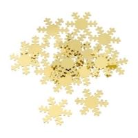 Aluflitter, Schneeflocke gold