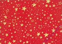 Motiv-Fotokarton 300g/qm 50x70cm Sterne rot