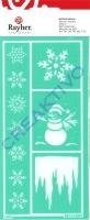Rayher Softschablone Eis und Schnee