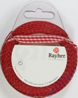 Rayher Karoband 9,5mm rot