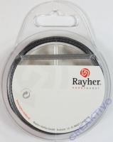 Rayher Satinband 3mm 10m silber