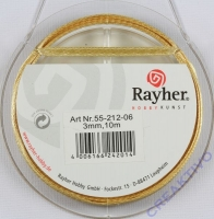 Rayher Satinband 3mm 10m gold