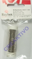 Brillantdraht flach 1mm silber