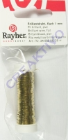 Brillantdraht flach 1mm gold