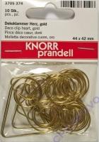 Knorr Dekoklammer Herz gold 44 x 42 mm 10 Stück (Restbestand)