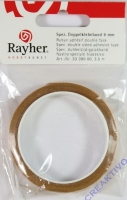 Spezial-Doppelklebeband, 9 mm, Rolle 3,5 m