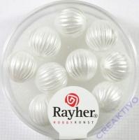 Rayher Rillenperlen 10mm weiß