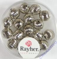 Rayher Rillenperlen 8mm silber