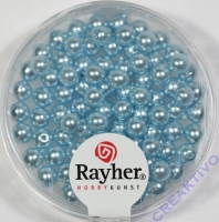 Renaissance Glaswachsperlen, 4 mm ø hellblau