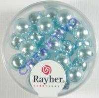 Renaissance Glaswachsperlen, 8 mm ø hellblau