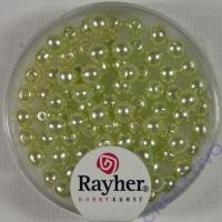 Renaissance Glaswachsperlen, 4 mm ø lindgrün