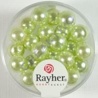 Renaissance Glaswachsperlen, 8 mm ø lindgrün
