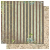 Scrapbooking Papier Welcome Home Stripe (Restbestand)