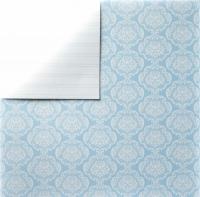 Scrapbooking Papier Blue Damask (Restbestand)