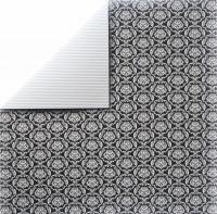 Scrapbooking Papier Black Ornaments (Restbestand)